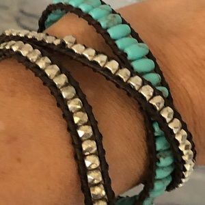 Lucky Brand Turquoise and Silver Bracelet